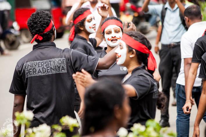 Kandy - protest študentov proti noveli zakona o plačljivem šolstvu