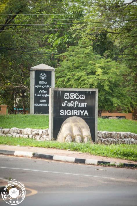 Na križišču za Sigiriyo v kraju Inamaluwa