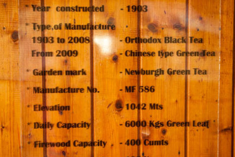 Finlays - Newburgh green teas - tovarna čaja, Šrilanka