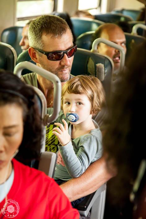 Moja princeska prvič na vlaku malce zmegana