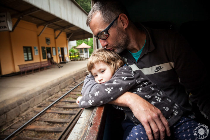 Očkova lubica na vlaku