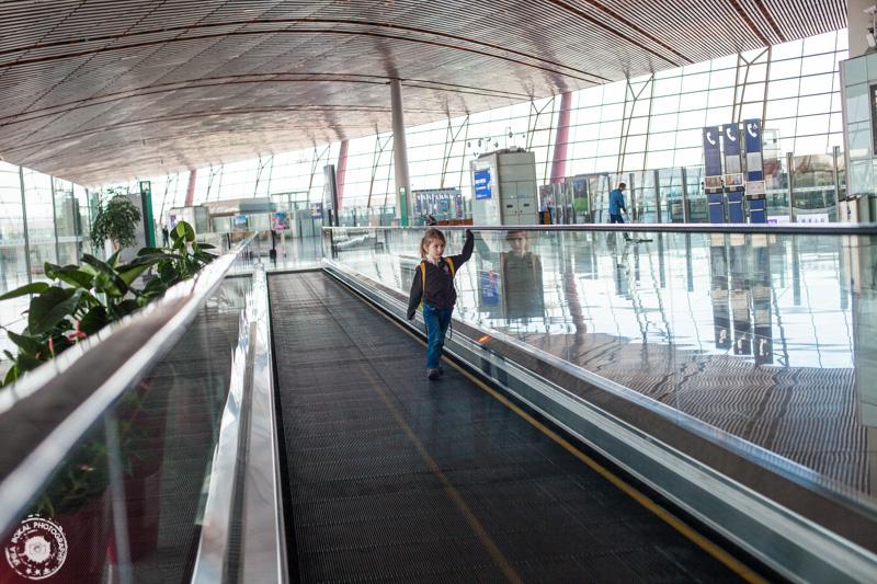 Na letališču v Pekingu