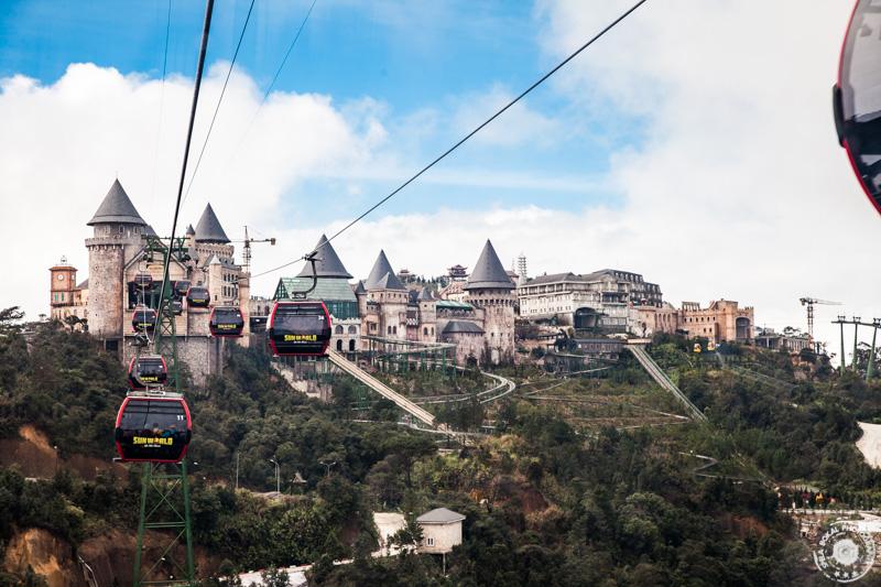 Da Nang, Ba Na Hills, pogled na francosko mestece na vrhu hriba
