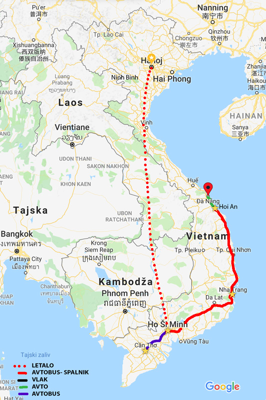 Da Nang - naša pot