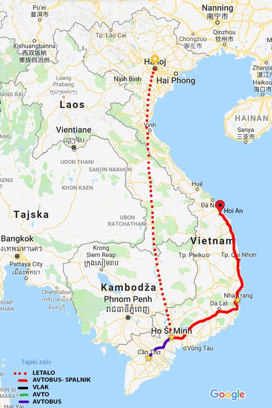 Iz Nha Tranga smo z nočnim spalnim busom prišli v deževni Hoi An